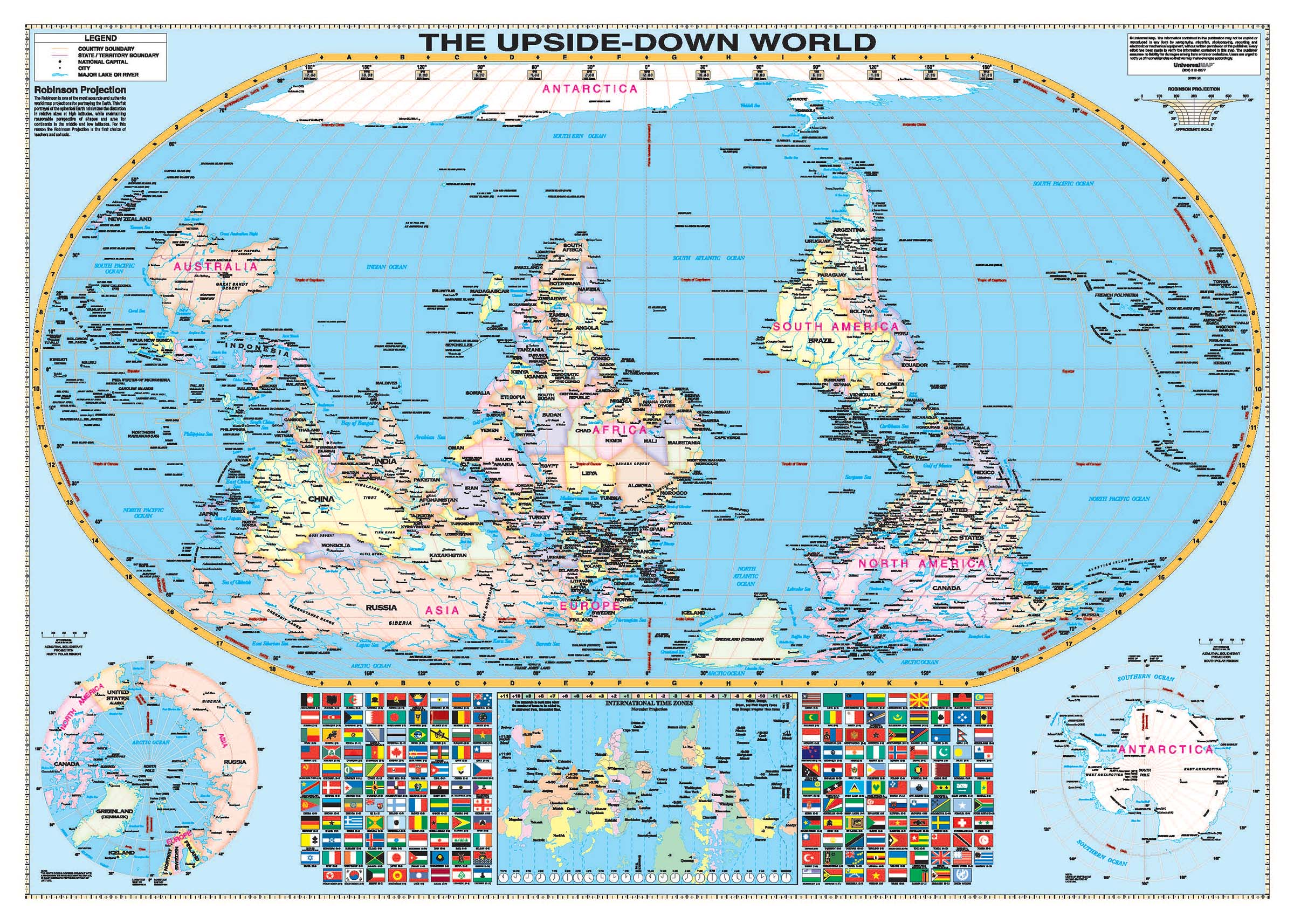 Upside Down Map Of The World Upside Down World Wall Map – KAPPA MAP GROUP