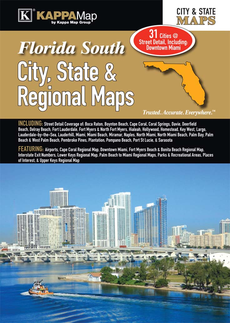 State Map Of Florida With Cities.South Florida City State Regional Maps Kappa Map Group