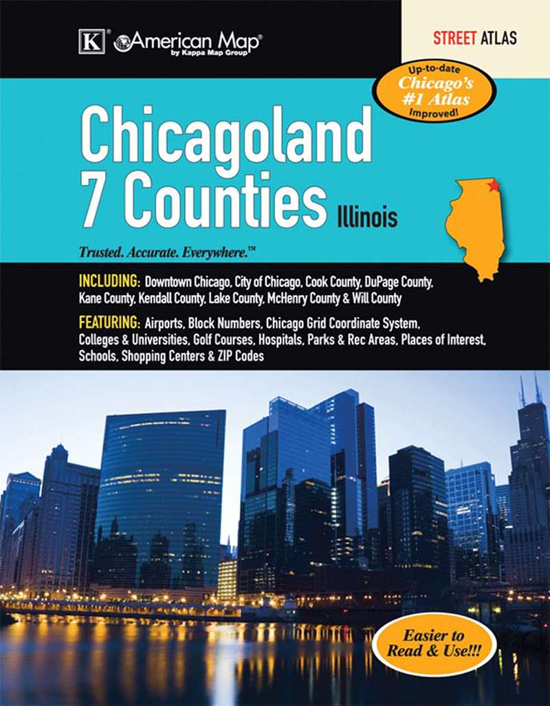 Chicagoland Il Seven Counties Street Atlas Kappa Map Group