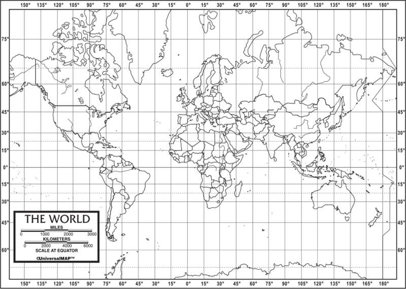 World Outline Map 50-Pack (paper) – KAPPA MAP GROUP