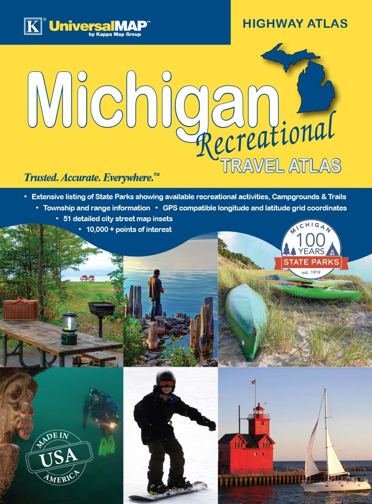 Michigan Recreation Travel Atlas on michigan maps online, michigan area codes, southeastern mi map, michigan culture, michigan government, michigan trip, michigan travel brochure, michigan trivia, michigan travel destinations, michigan home, michigan-ohio map, michigan travel guide, michigan hotels, michigan vacation, michigan travel poster, michigan activities, michigan country, michigan travel information, michigan beach resorts, michigan time,