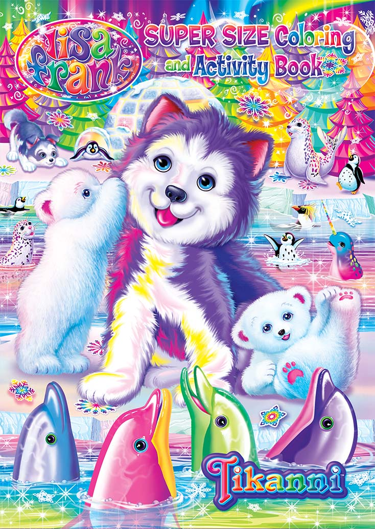 Amazon.com: Lisa Frank Coloring Book and Stickers Super Set (3 ... | 1033x734